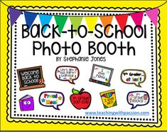 "Are you looking for a fun way to break the ice at ""Meet the Teacher"" or on the first day of school? These colorful signs and props are perfect to add to your classroom photo booth! Parents and students can hold the props at ""Meet the Teacher"" as you take their"