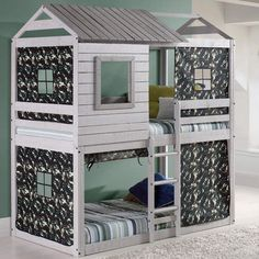 Donco Kids Twin over Twin Bunk Bed Bunk Beds | Bunk Bed Furniture #beds #bunkbeds #funirture