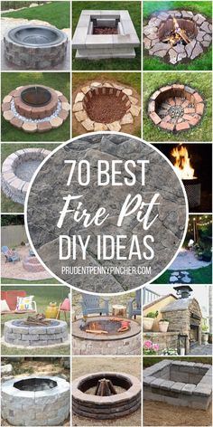 Give your backyard a makeover with one of these warm and cozy DIY fire pits. From cheap and easy portable fire pits for patios to in ground fire pits for large areas, there are plenty of outdoor ideas for every size, style and budget.