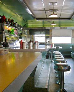 Forked River Diner - Interior by Mod Betty / RetroRoadmap.com, via Flickr