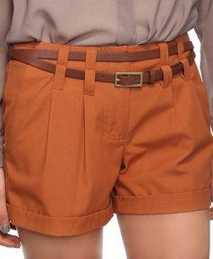 Woven Shorts w/Wraparound Belt