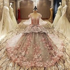 Find More Wedding Dresses Information about Luxury Grey Ball Gown Crystal Lace Beaded Plus Size Wedding Dresses 2017 Cathedral Train Bridal Gowns Novia Need Deposit XW236,High Quality dress jacket wedding guest,China dress rihanna Suppliers, Cheap dress tweed from Shop1097158 Store on Aliexpress.com