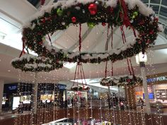 Decorated mall for Christmas!