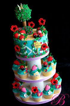 Cupcakes fiesta de mariquitas