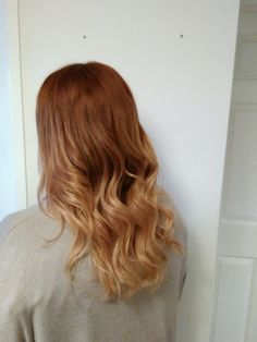 Warm copper to blonde