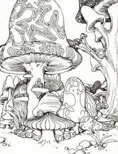 Psychedelic Mushroom Coloring Pages American hippie <b>coloring</b> page zentangle tattoo idea art <b></b>