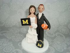 Hey, I found this really awesome Etsy listing at https://www.etsy.com/listing/123241161/custom-bride-groom-football-fans-wedding