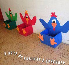 Jogo divertido com galinhas coloridas