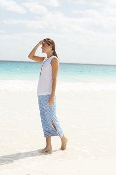 Tile-print knit maxi skirt