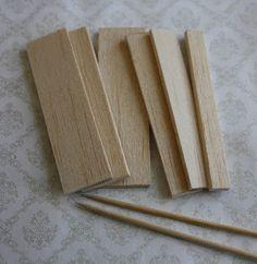 Lasituvan Miniatyyrit - Lasitupa Miniatures: DIY: wooden plate rack - puinen lautashylly (+temp...