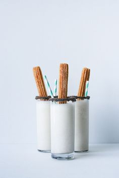Try this Churro Milkshake recipe at your next party. The milkshake tastes like a churro AND it has a churro on top! // saltycanary.com