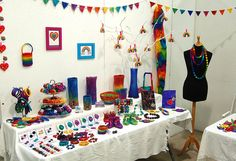 great display for felted jewelry #therainbowroom