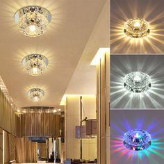 1x 3W/5W Crystal LED Ceiling Light Fixture Pendant Lamp Lighting Chandelier