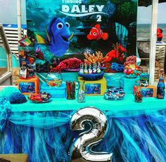 Finding Dory Party Idea using our Dory Printed Banner!