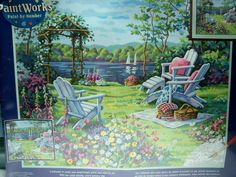 Dimensions Paint by Number Kit Paintworks Summer Day Serenity Barbara
