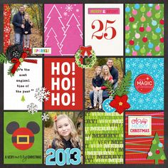 Disney Christmas Project Life layout created by Roxxygerlie featuring Project Mouse (Christmas) from Britt-ish Designs and Sahlin Studio