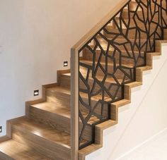 modern stair railing ideas iron safety grill design for staircase. modern stair railing ideas iron safety grill design for staircase. Modern Stair Railing, Wrought Iron Stair Railing, Stair Railing Design, Stair Decor, Staircase Railings, Modern Stairs, Stairways, Entryway Stairs, Stair Handrail