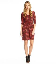 Karen Kane Diamond Print Tiffany Dress