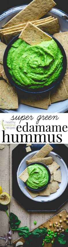 Blog post at Healthy Seasonal Recipes : This protein packed, vegan, super green edamame hummus is bursting with nutrients and it's so delicious. My daughters love it for snack or[..]