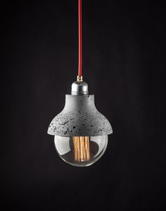 M422 Pendant Lightweight Concrete Lamp by ConcreteLamps on Etsy