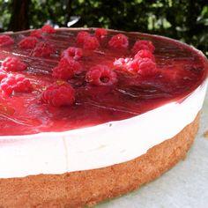Tvarohový dort s malinami a ostružinami - bez lepku/glutenfree Cheesecake, Desserts, Food, Tailgate Desserts, Deserts, Cheesecakes, Essen, Postres, Meals