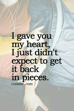 Best love Sayings & Quotes QUOTATION – Image : As the quote says – Description Broken heart …happens in love….it sure does hurt! opens healing to ultimate joy to commitment with no doubts … Sharing is Love – Don't forget to share this quote. Cute Quotes For Life, Great Quotes, Quotes To Live By, Inspirational Quotes, Breakup Quotes, True Quotes, Qoutes, Quotes Quotes, The Words