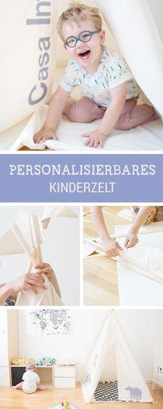 Mein Friedrich Schatz ❤ Kinderzelt mit individuellen Motiven, Tipi zum Spielen / personalised teepee for the child's room by Moozle Teepees via DaWanda.com