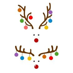Christmas Ornaments Bulbs Reindeer Deer Cuttable Design PNG DXF SVG & eps File for Silhouette Cameo and Cricut Christmas Vinyl, Christmas Rock, Christmas Shirts, Winter Christmas, Christmas Button Crafts, Cricut Christmas Cards, Christmas Design, Christmas Decorations, Christmas Ornaments