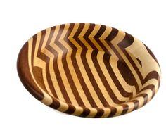 Buzebraple Bubinga and Maple Striped Wood Bowl by fostersbeauties