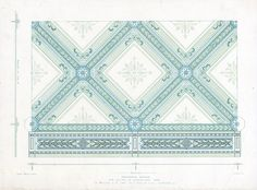 The Prints Collector :: Antique Print-DECORATION-ORNAMENT-19TH C.-1-ENAMELLED IRON-CEILING-Allen-1890