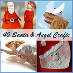 Santa Crafts (from Red Ted Art) Santa Crafts, Christmas Crafts For Kids, Christmas Activities, Christmas Angels, Christmas Projects, Winter Christmas, Holiday Crafts, Holiday Fun, Christmas Holidays