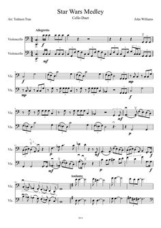 Star Wars Medley for Cello Duet. Sheet music | MuseScore