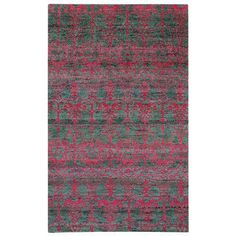 Capel Round About Acrobat Hand Knotted Raspberry Area Rug Size: 8' x 10'