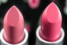 MAC Pink Plaid (L) and Chatterbox (R) Lipsticks