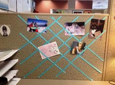 Creative DIY Cubicle Decorating IdeasCubicle decoration is a fascinating and fun way to put your creativeness to good use. Enjoy these creative diy cubicle ideas to bring your personal to. Cubicle Design, Work Cubicle, Office Cube, Cool Office, Cubicle Makeover, Office Makeover, Work Desk Decor, Office Decor, Office Chairs