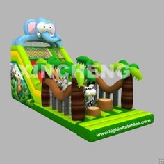 Inflatable safari obstacle