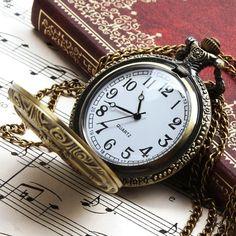 Amazon.com: Fashion Unisex Antique Vintage Brass Rib Chain Quartz Pocket Watch Steampunk Pendant + Chain Dragon: Yesurprise: Watches