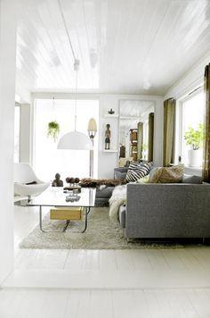 Salon gris beige