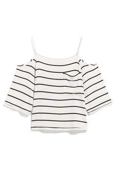 Stripe cold shoulder