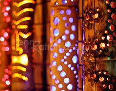 tiki bar idea: carved bamboo lit from the inside. 11 x 14 Tiki Time Photo Print by JennRationDesign on Etsy.