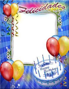 Marco png para fotomontajes de cumpleaños | Photo Frames