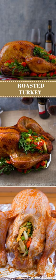 ROASTED TURKEY. This roasted turkey couldn't have tasted any better or the recipe been any simpler as the combination of ingredients was just a perfect pair to complement the dish. Give the recipe a try and you will definitely enjoy every bit of it..  .