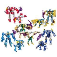 """Hasbro Year 2013 Transformers Prime """"Beast Hunters - Predacon Rising"""" Series Exclusive 5 Pack Legion Class Combiners Robot Action Figure Set - Predacon ABOMINUS with Twinstrike, Hun-Gurrr, Windrazor, Predacon Rippersnapper and Blight"""