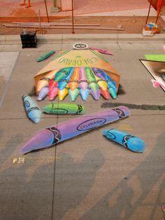 2011 3-D Chalk Art Festival Winner. Created by Denver Artist Lance Leber   #DenverHeartsTheArts