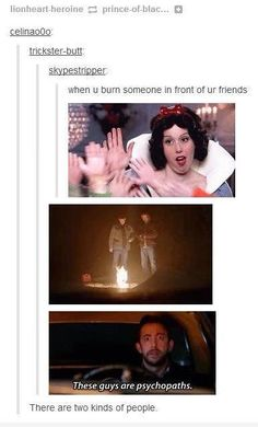 I'm the supernatural person.
