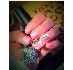 #NailArt #NailFun Pink, Black, White #Nails