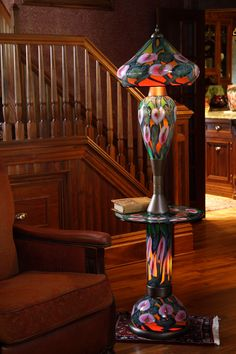 Daniel Lotton       Art Glass and Lighting  Custom Made Table Floor Lamp    www.daniellottonstudio.com