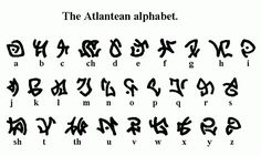 atlantis: the lost empire alphabet