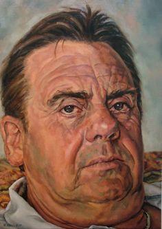 Vic portrait by Mark Fennel Oil on linen 71cm x 51cm