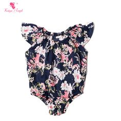 Find More Rompers Information about 1 Piece Floral Baby Girl Bodysuit Summer Clothes For Baby Girls Navy Floral 2016 Newborn Clothes Jumpsuits Girls Bodysuit,High Quality newborn clothes,China clothes for baby Suppliers, Cheap jumpsuit girls from kaiya angel clothing factory on Aliexpress.com